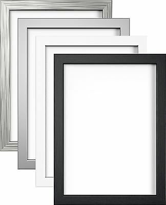 Modern Photo Picture Poster Frame Large Multiple Sizes Black White Silver Pewter