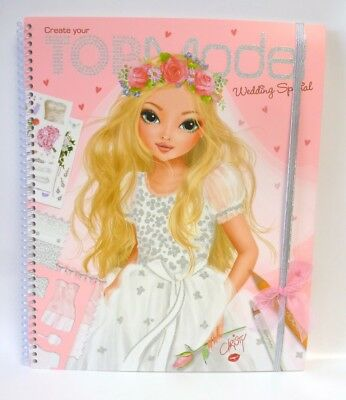 Depesche 6597 A Create your Top Model Wedding Special Malbuch Christy Sticker Vo