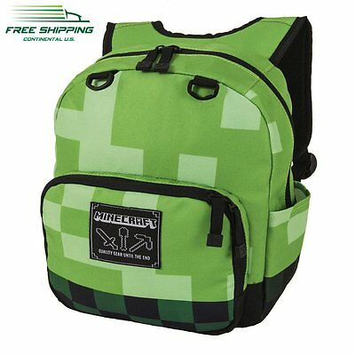 Mini Backpack Minecraft Creeper Bag Rucksack School Travel Backpacks Green Kids