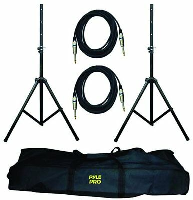New PYLE PMDK-102 Heavy-Duty Pro Audio Speaker Stand & 1/4'' Cable Kit
