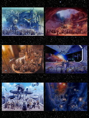 Star Wars Epic 6 Films All Characters Trilogy Movie HUGE GIANT PRINT POSTER