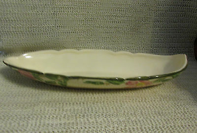 """FRANCISCAN DESERT ROSE.. 11"""" x 4.5"""" OVAL CELERY RELISH TRAY DISH 1940's"""