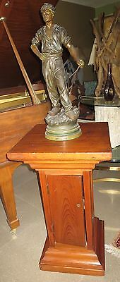 Antique Wood Pedestal/Table/Stand c.1900. Solid Wood, Arts & Crafts, Beautiful.