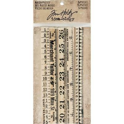 Tim Holtz Idea-Ology - Wooden Ruler Pieces - Pack of 5