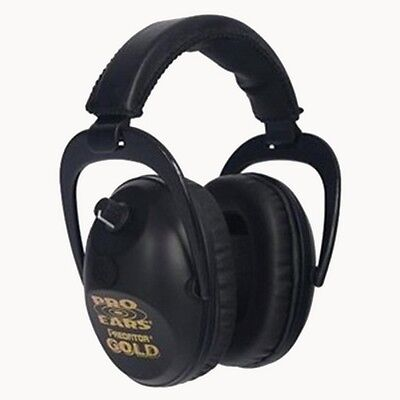 Pro Ears GS-P300-B Predator Gold Series Ear Muffs Black