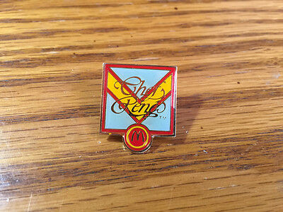 Vintage Hat Uniform Lapel Pin - McDonald's Chef Rene 1988