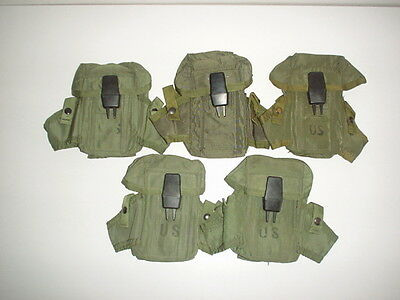 US ARMY original issue ALICE nylon ammo pouch for 3  30rd mags NICE SHAPE