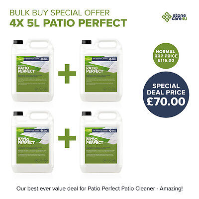 Powerful & Fast Outdoor Cleaning: Patio Perfect Patio Cleaner *4x 5L BULK BUY*