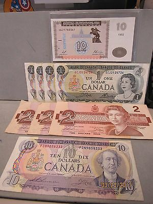 "Great Lot Of Vintage Canada Paper Money ""notes"" (9485-Pmb-Ms)"