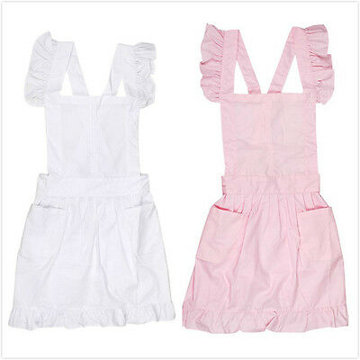 Pinafore Apron Chef Maid Fancy Dress with Pocket Kitchen Textiles Lace Victorian