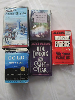Lot of 5 Audiobook's Tapes  by, Sparks, Friedman,Frazier, Stevenson, & Deveraux