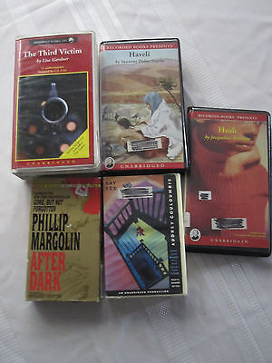 Lot of 5 Audiobook's on tape, Gardner, Couloumbis, Margolin, Woodson,  Staples