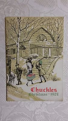 "1924 "" CHRISTMAS  WISHES BOOK, PURINA MILLS "" in St. Louis, Mo. (CHUCKLES )"