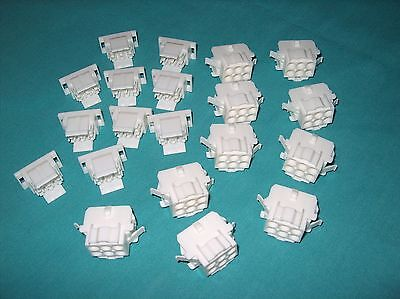 Lot Of 10 Te / Amp 6 Pos Rectangular Housing Receptacle  2 Pc.kit 770027-1 New