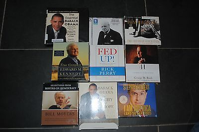 Lot of 9 Audio Books CD Politics
