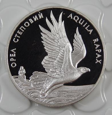 Ukraine 1999 Silver Proof 10 Hryvnia Steppe Eagle Coin C0307