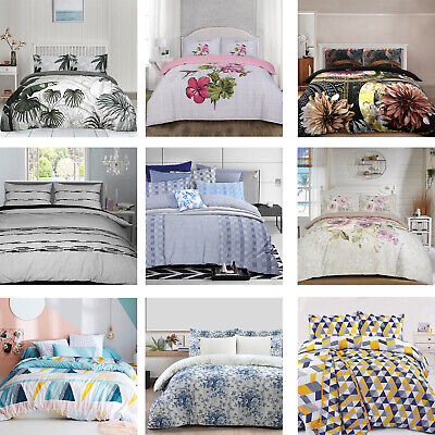 Soft Quilt Duvet Cover Bedding Set Bed Linen Single Double Super King All Sizes