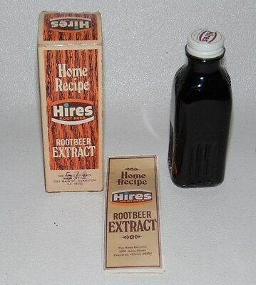 Hires Root Beer Extract 3 oz. Bottle with Box and Directions NOS Un-used