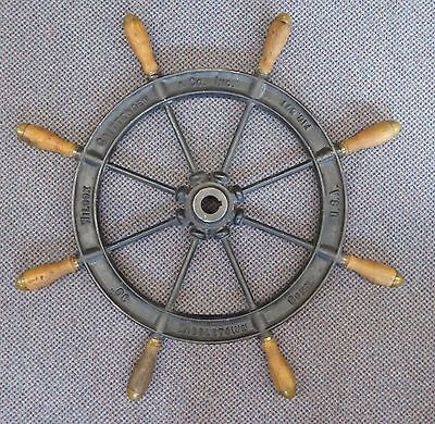 "Antique Ship's WHEEL by Wilcox Crittenden Middleton, CT USA. 30""/8 Spokes. 1850s"