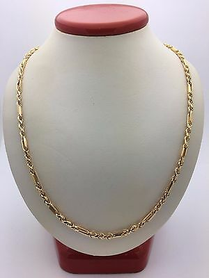 """New Solid 14K Yellow Gold 30"""" Milano Diamond Cut Rope Chain Necklace 27 g 3 mm"""