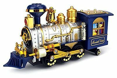 Classical Series Train Engine Locomotive Smoking Lights Bump & Go Horn Sounds BO