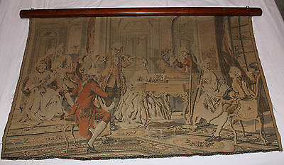 """Antique French Victorian Tapestry 1880's - 28"""" High x 42"""" Wide"""