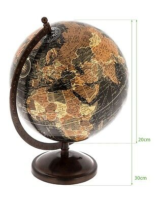 20cm World Globe Map on 30cm Metal Stand Geography Educational Office Gift