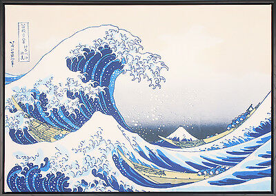 50x70cm FRAMED | Canvas Prints | Abstract Modern Wall Art by Hokusai