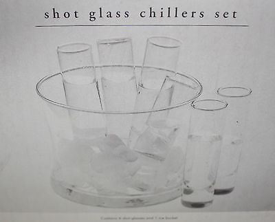 Shot Glass Chiller set with Ice Bucket (6 Shot Glasses)