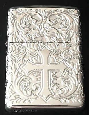 Zippo Limited Edition Sterling Silver Cross Lighter With Wrap Around Engraving