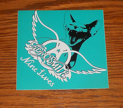 Aerosmith Nine Lives Sticker Square Promo 4x4 RARE