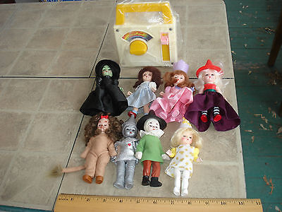 McD HappyMeal Wizard of Oz 2007 Full set of 8 + F-P music box Over the Rainbow