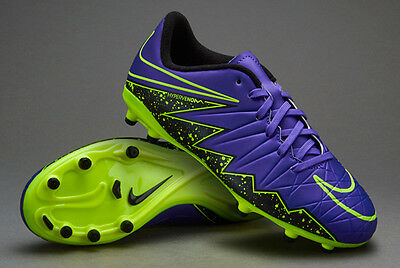 newest 8bfb7 6ddd1 Nike Jr Hypervenom Phelon II FG - (Hyper Grape Black Volt) Size