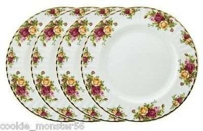 Royal  Albert  Old  Country  Roses  Dinner Plates x 4