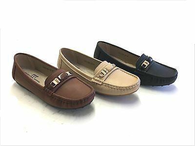 New Women's Moccasin Loafer Shoes 7 - 10 Black, Brown & Beige