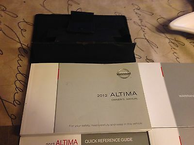 2012 Nissan Altima Owner's Manual with Booklet's and Case
