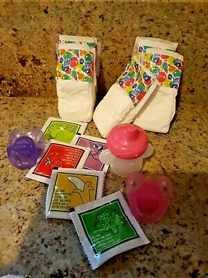 Baby Alive Refill Pk  -10 Pk W/ Sippy Cup Diapers Food And 2 Pacifiers For Baby