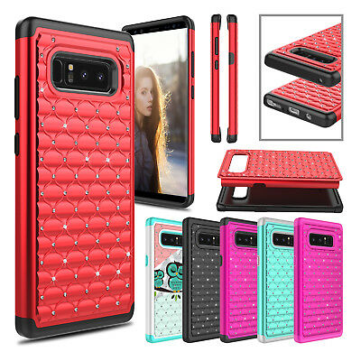 Hybrid Rugged Rubber Hard Armor Phone Case Cover for Samsung Galaxy S8 / S8 Plus