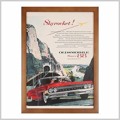 30x40cm Vintage Car Print Poster Framed Wall Art Home Office Decor Ready to Hang