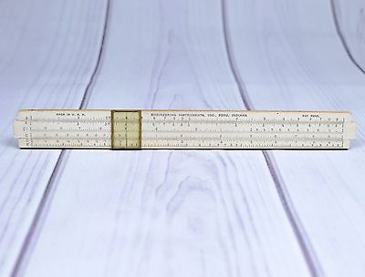 Vintage Engineering Instruments Inc Wooden Sliding Ruler Engineering Made in USA