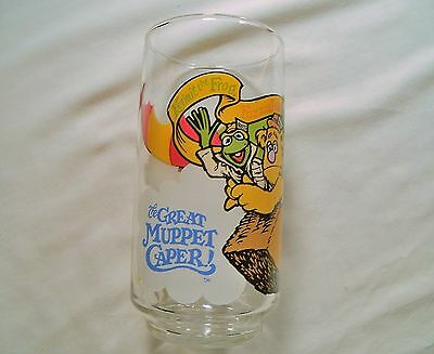 Vintage Muppets 'Great Muppet Caper' McDonalds Glass Cup 1981