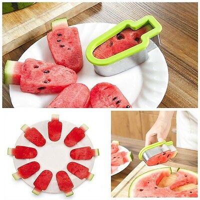 Creative Artifact Sliced Watermelon Popsicles Shape Mold Kitchen Gadget Tools