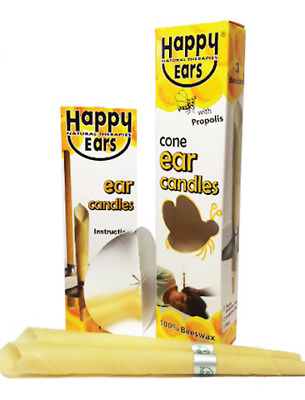 Ear Candles 100% Beeswax (1 pair) - Cone