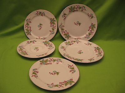 """Five """"s.g.k. China"""" Made In """"occupied Japan"""" Plates - Two 6.5"""" & Three 7.5"""""""