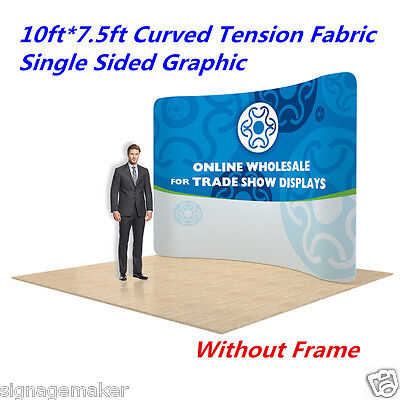 """10"""" Curved Fabric Tension Backwall Pop Up Display Trade Show Single Graphic ONLY"""