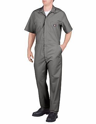 Dickies Gray Short Sleeve Poplin Coverall Jumpsuits Work Wear 33999