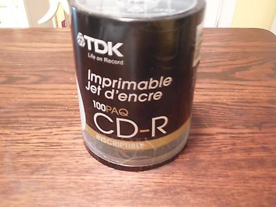 Tdk Cd-R Disc'S-Inkject Printable-100 Ct (See Description)
