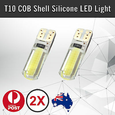 2pcs T10 COB SHELL SILICONE WHITE LED SILICA GEL W5W CAR PARKER WEDGE LIGHT BULB