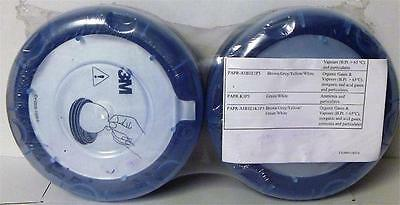 Pair of 3M Jupiter PAPR-A1P3 Organic Vapour & Particulate Filters 453-00-25