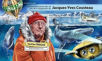 Z08 TG17118b TOGO 2017 Jacques-Yves Cousteau MNH Mint
